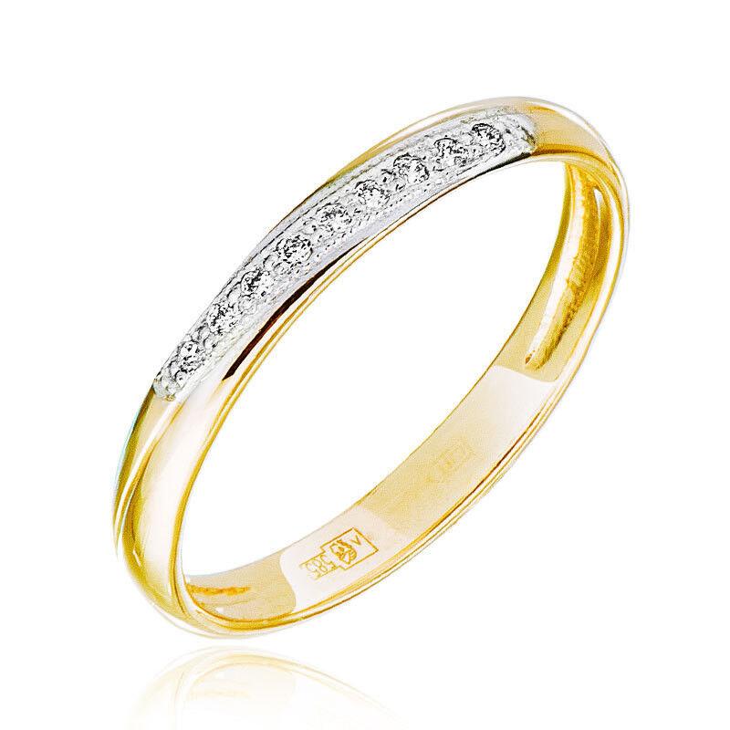 Ювелирный салон Jeweller Karat Кольцо обручальное с бриллиантами арт. 1212597 - фото 1