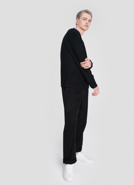 Кофта, рубашка, футболка мужская O'STIN Джемпер из текстурированного полотна MT5X36-98 - фото 1