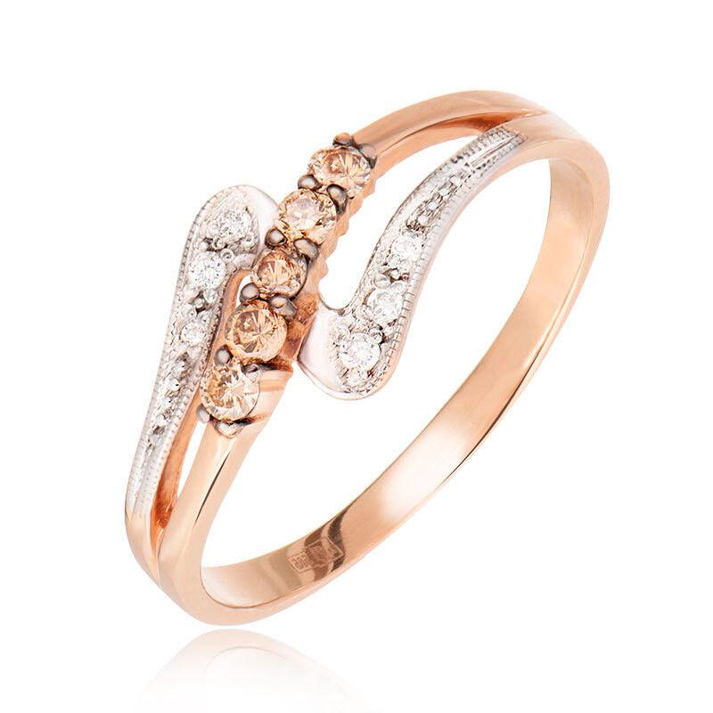 Ювелирный салон Jeweller Karat Кольцо золотое с бриллиантами арт. 1212433/1ш - фото 1