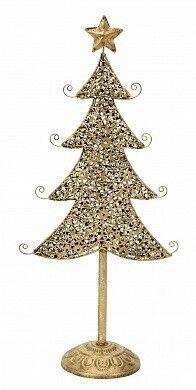 Подарок на Новый год Eurotrading Статуэтка металлическая «Ёлка со звездой», 19х9х41 см - фото 1