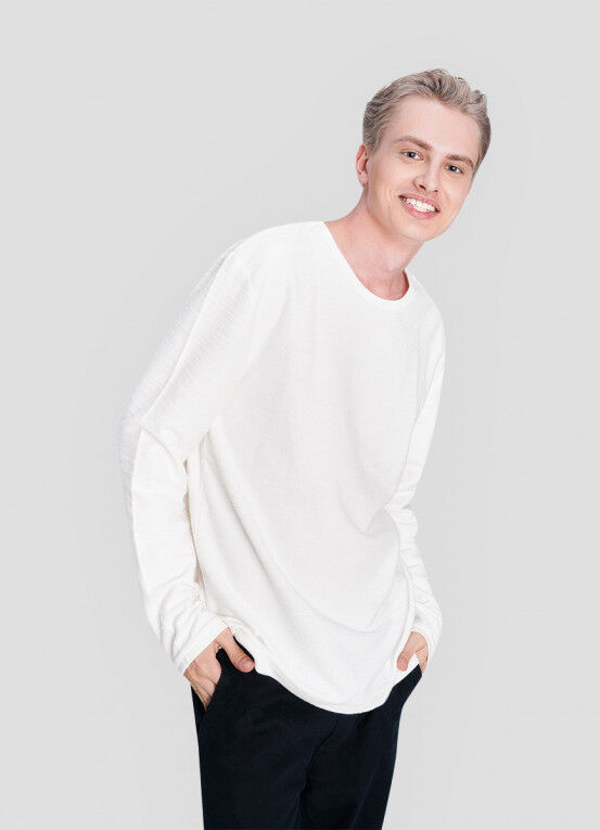Кофта, рубашка, футболка мужская O'STIN Джемпер из текстурированного полотна MT5X36-01 - фото 1