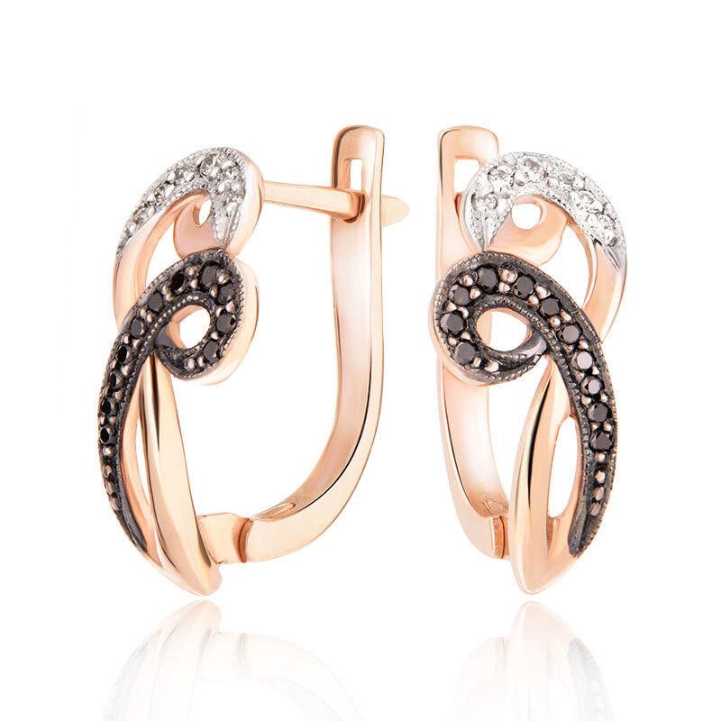 Ювелирный салон Jeweller Karat Серьги золотые с бриллиантами арт. 1223012/2ч - фото 1