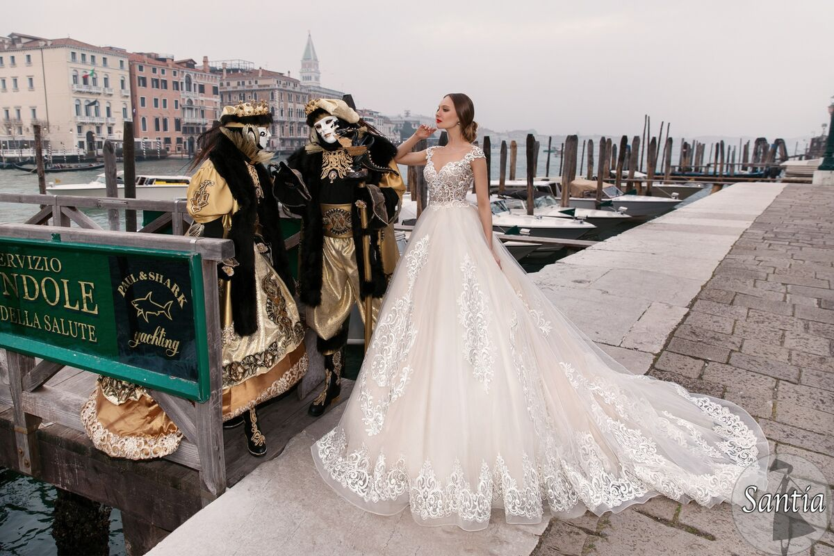 Свадебное платье напрокат Bonjour Galerie Платье свадебное «Santia» из коллекции LE DELICE - фото 3