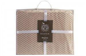 Подарок Ecotex Декоративный флисовый плед 180х200 Elegance Бежевый - фото 3
