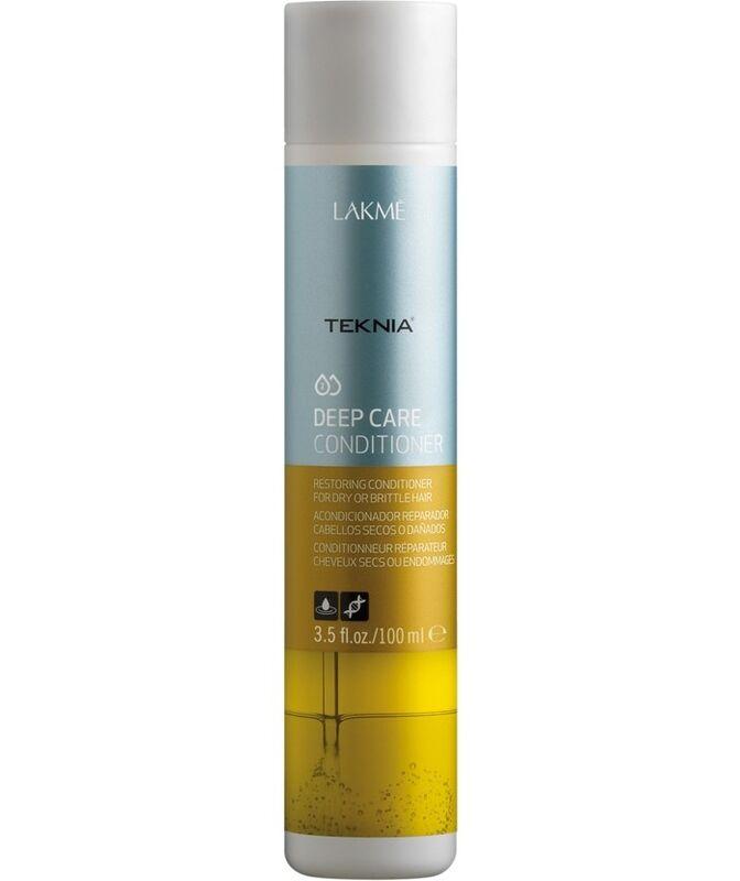 Уход за волосами Lakme Восстанавливающий кондиционер для ломких и поврежденных волос Teknia Deep Care Conditioner 100 мл - фото 1