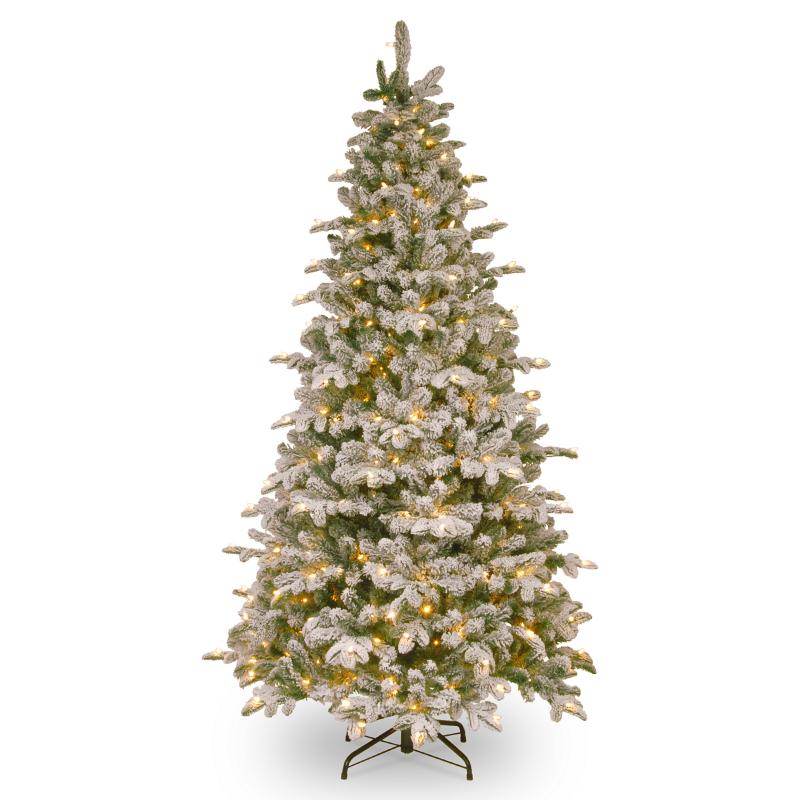 Елка и украшение National Tree Company Ель искусственная «Snowy Everest LED», 1.83 м - фото 1