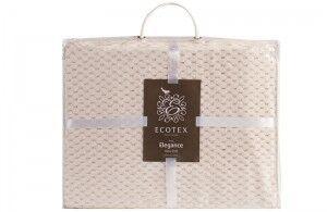 Подарок Ecotex Декоративный флисовый плед 150х200 Elegance Кремовый - фото 4