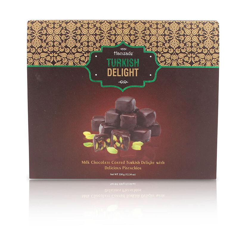 Подарок на Новый год Hacizade Рахат лукум с фисташками в шоколаде, 350 гр - фото 1