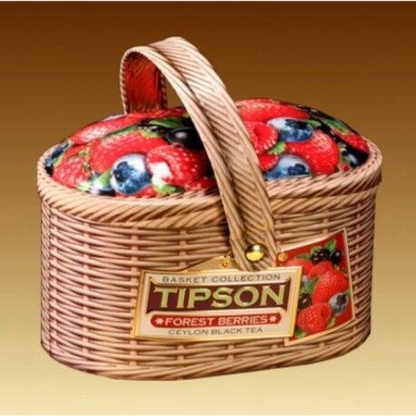 Подарок Tipson Чай в лукошке «Лесные ягоды», 100 гр - фото 1