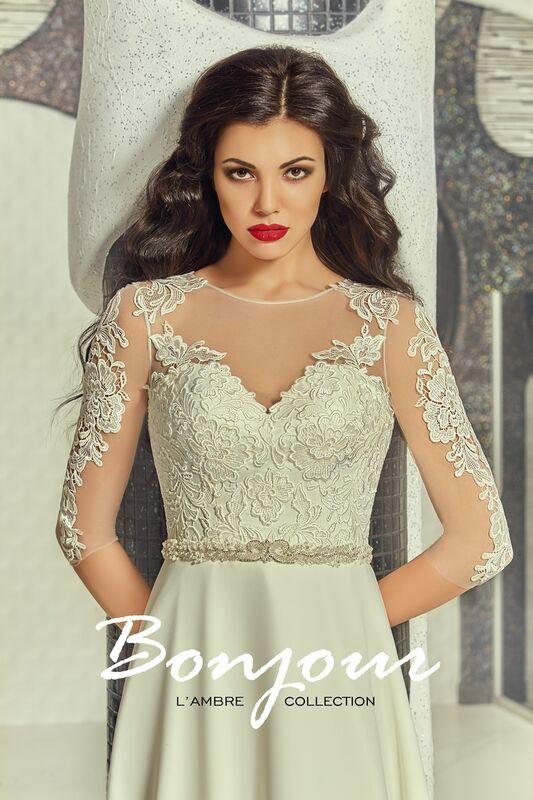 Свадебное платье напрокат Bonjour Платье свадебное «Viktoria» из коллекции L'ECLAT 2016 - фото 3
