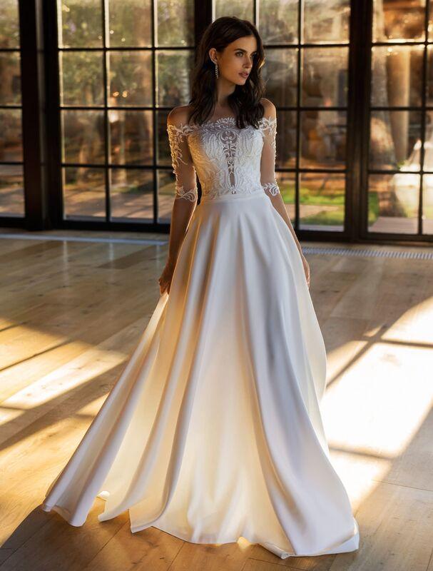 Свадебное платье напрокат Natalia Romanova Свадебное платье  Kleo - фото 1