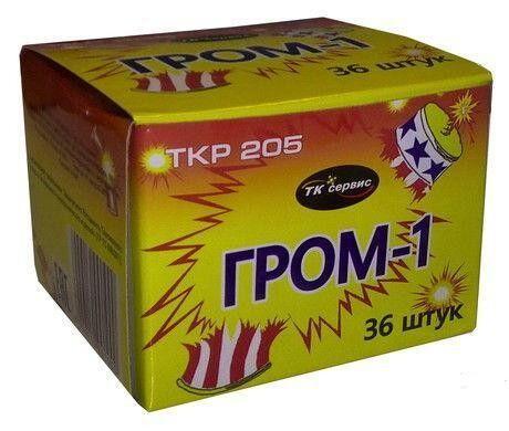 Фейерверк ТК сервис Петарды TKP 205 «Гром-1», 36 шт - фото 1