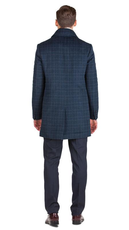 Верхняя одежда мужская HISTORIA Пальто синее утепленное в крупную клетку C.Bll.C.cri002 - фото 3