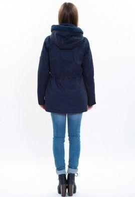 Спортивная одежда Free Flight Парка женская зимняя удлинённая модель №1458 синяя - фото 4