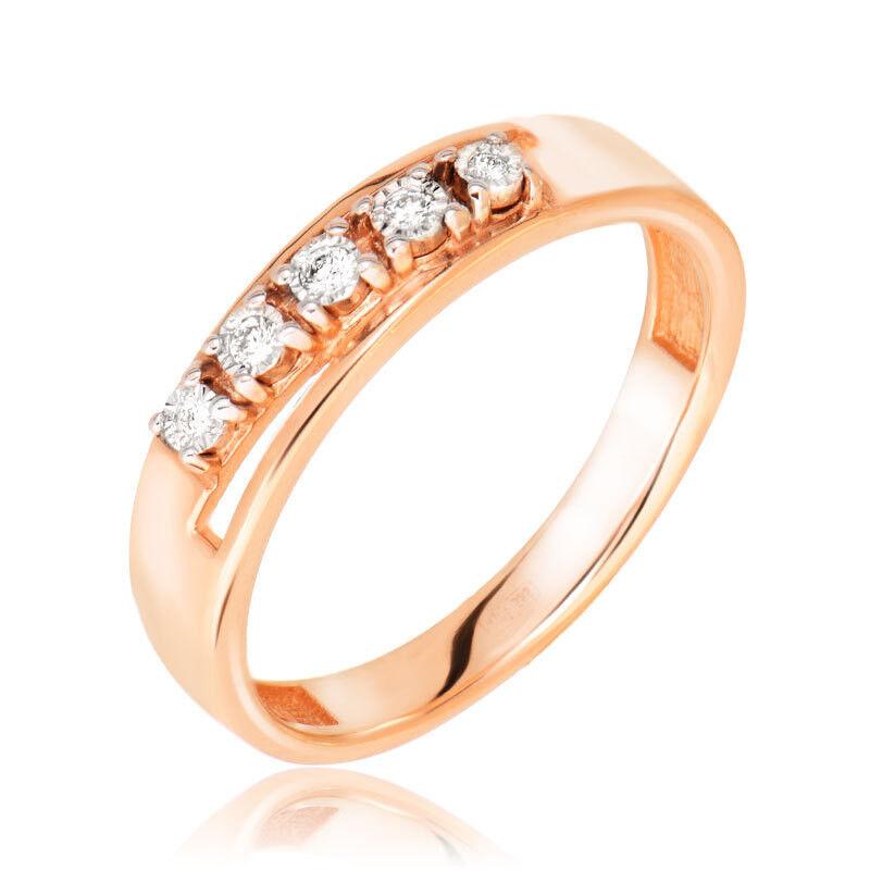 Ювелирный салон Jeweller Karat Кольцо золотое с бриллиантами арт. 3213976/9 - фото 1