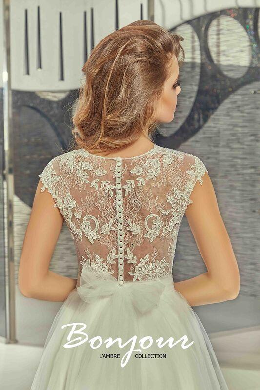 Свадебное платье напрокат Bonjour Платье свадебное «Mei» из коллекции LAMBRE 2017 - фото 4