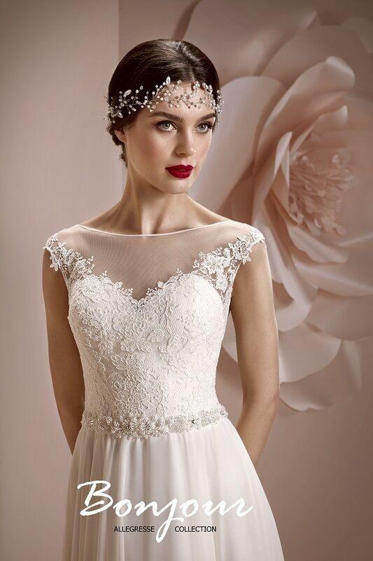 Свадебное платье напрокат Bonjour Платье свадебное «Maura» из коллекции ALLEGRESSE 2017 - фото 4