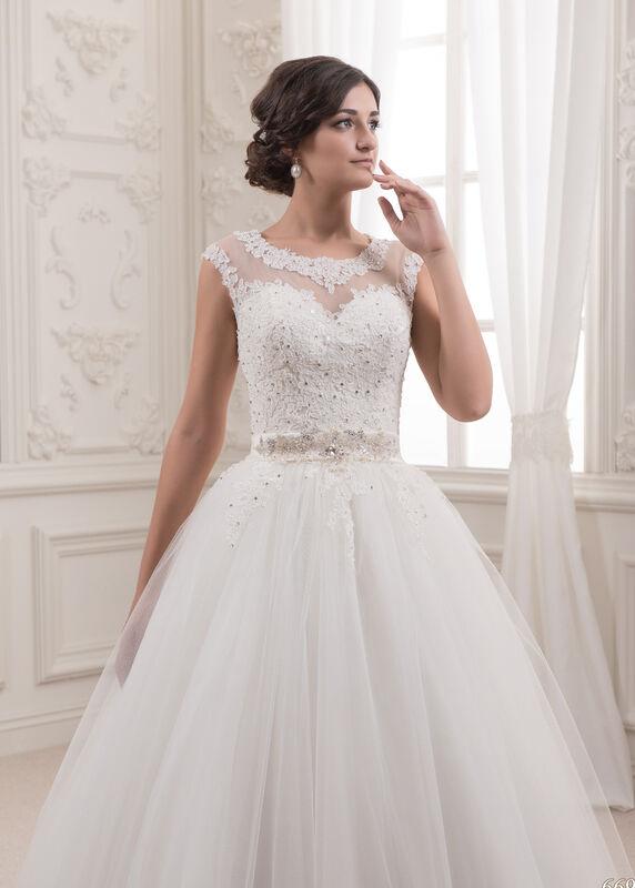 Свадебное платье напрокат White One (Pronovias) Платье свадебное «Sabina» - фото 3
