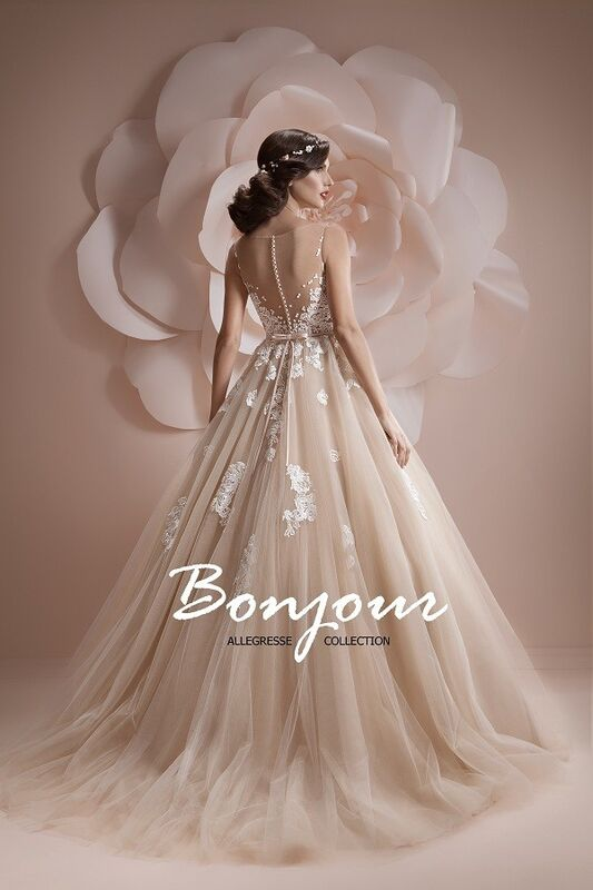 Свадебное платье напрокат Bonjour Платье свадебное «Jennifer» из коллекции ALLEGRESSE 2017 - фото 2