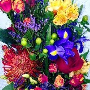 Магазин цветов Прекрасная садовница Букет вертикальный - фото 1