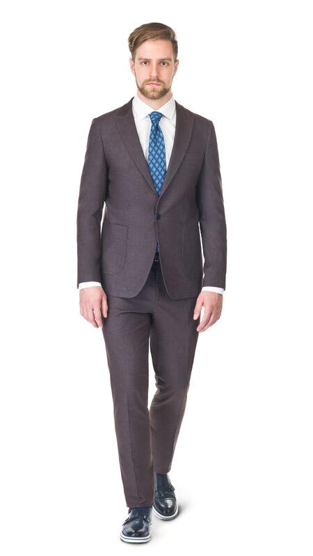 Костюм мужской HISTORIA Костюм коричневый, Slim, накладной карман - фото 1