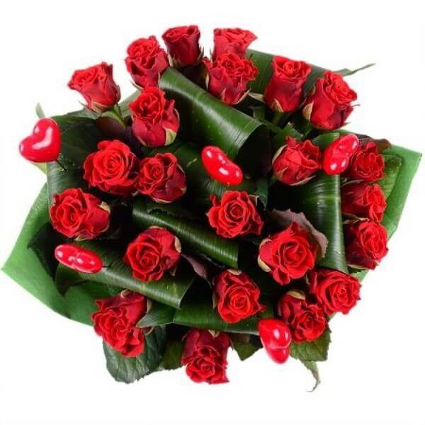 Магазин цветов Букетная Букет «Пламенное сердце» - фото 2