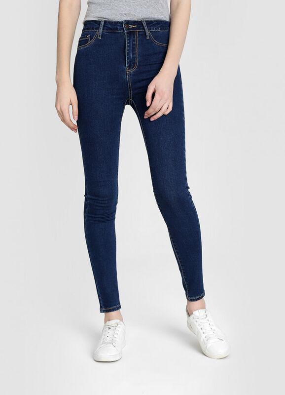 Брюки женские O'STIN Базовые суперузкие джинсы с высокой посадкой LPD109-D3 - фото 1
