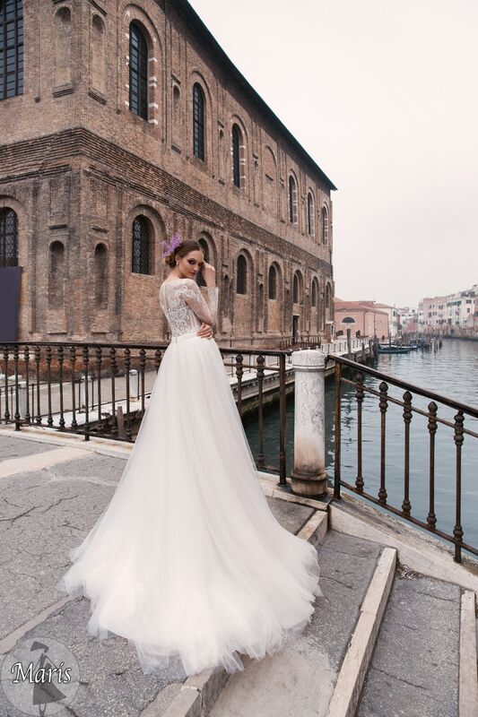 Свадебное платье напрокат Bonjour Платье свадебное «Maris» из коллекции LE DELICE 2018 - фото 3
