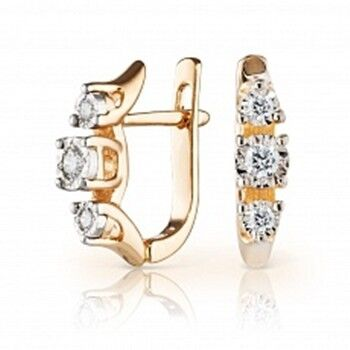 Ювелирный салон Jeweller Karat Серьги золотые с бриллиантами арт. 3222726/9 - фото 1