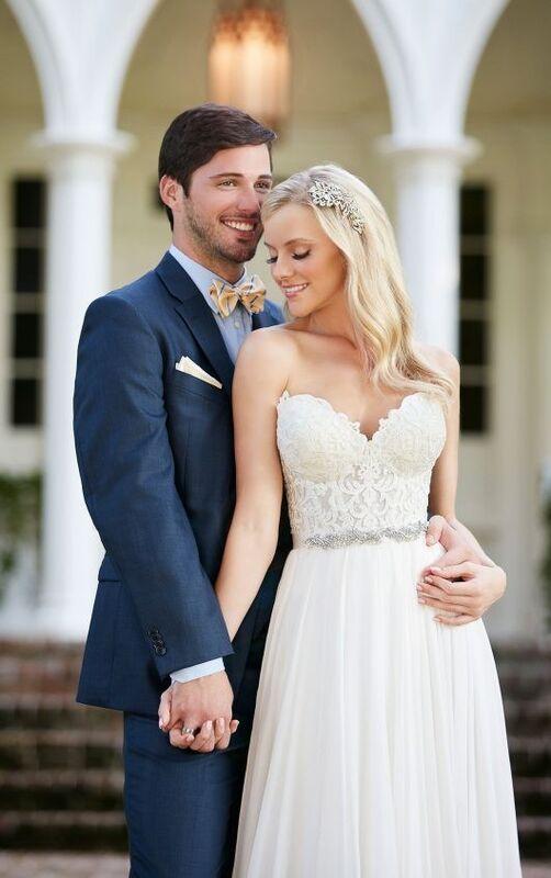 Свадебное платье напрокат Essense of Australia Платье свадебное Celia Shae - фото 4