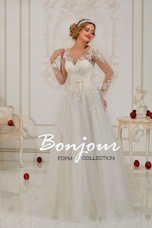 Свадебное платье напрокат Bonjour Платье свадебное «Violla» из коллекции EDEM 2016 - фото 1