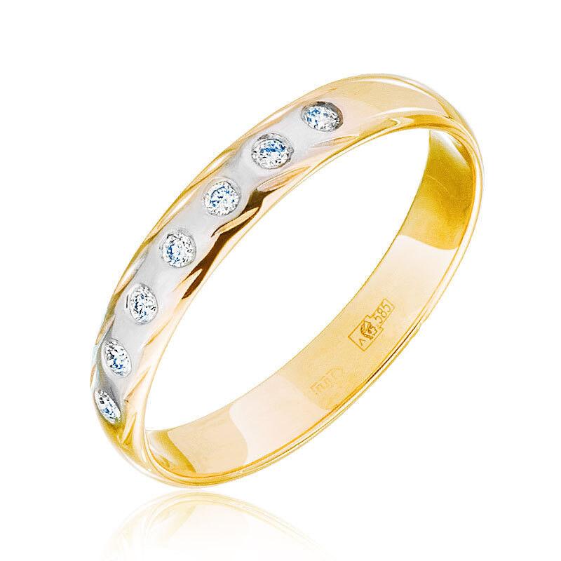 Ювелирный салон Jeweller Karat Кольцо обручальное с бриллиантами арт. 1212796 - фото 1