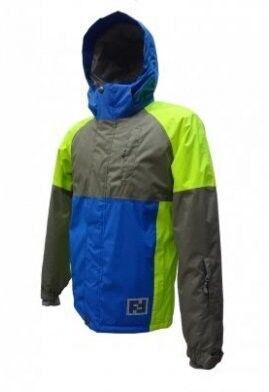 Спортивная одежда Free Flight Мужская мембранная горнолыжная куртка сине-серая - фото 1