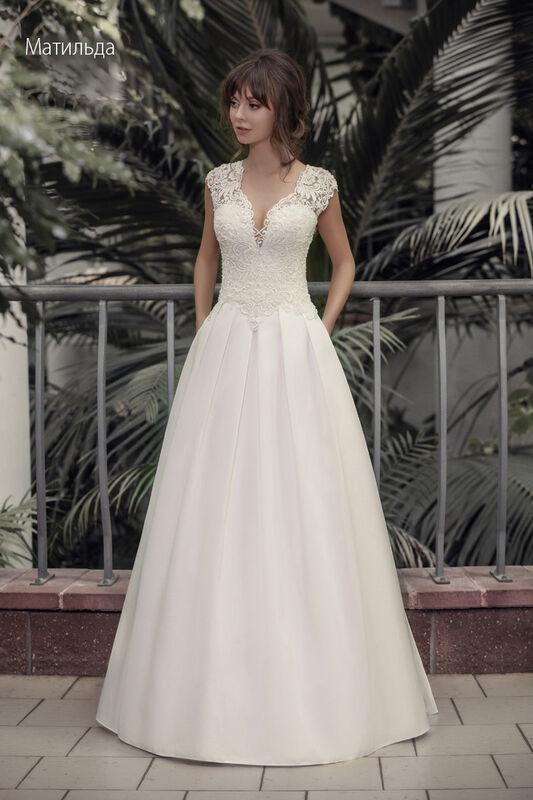 Свадебное платье напрокат Vintage Платье свадебное «Матильда» - фото 1