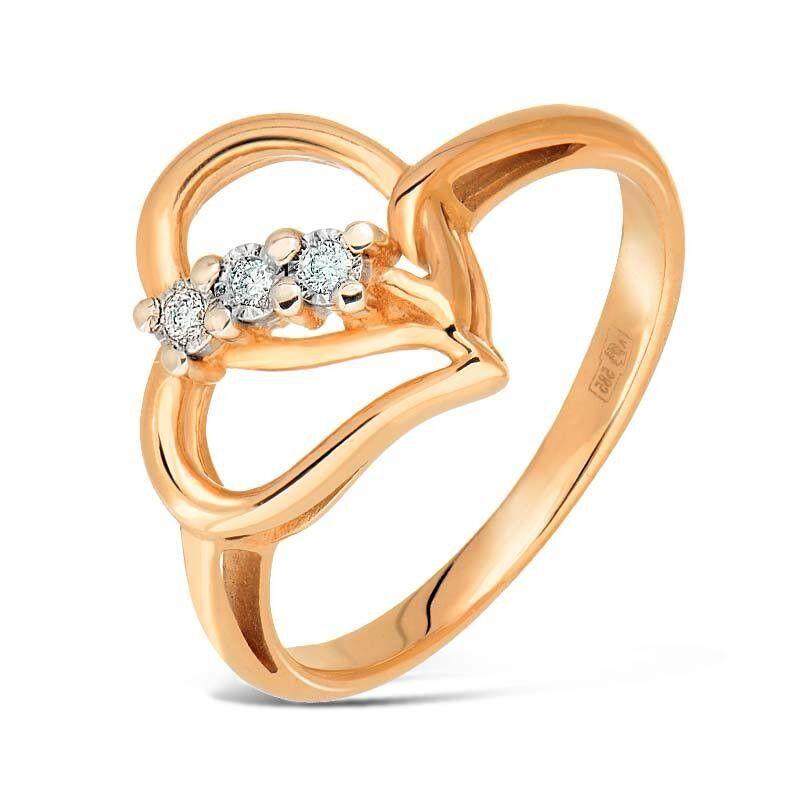 Ювелирный салон Jeweller Karat Кольцо золотое с бриллиантами арт. 3213782/9 - фото 1