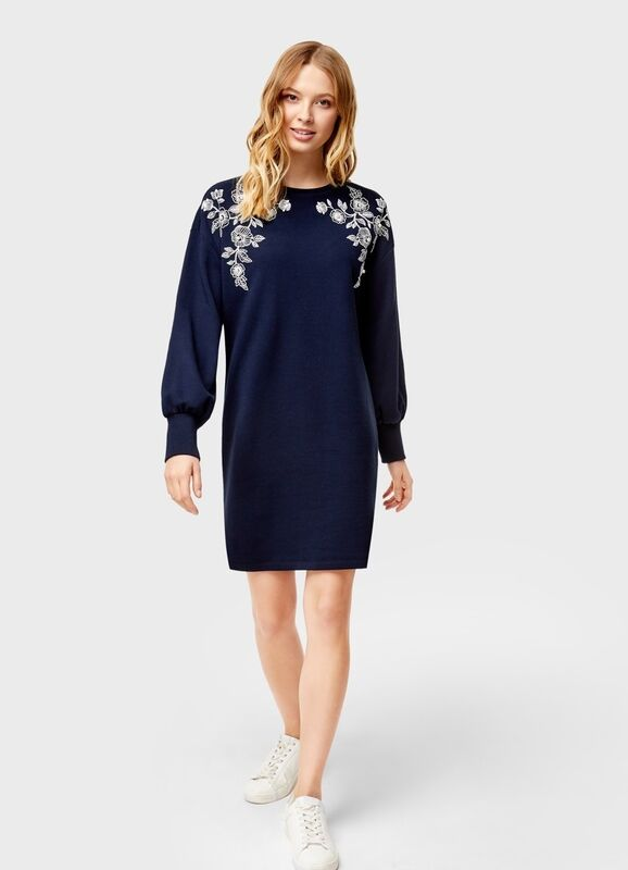 Платье женское O'stin Платье-толстовка с декором LT4U31-68 - фото 2
