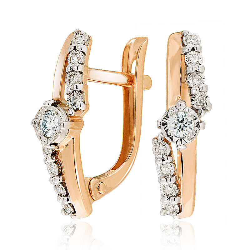 Ювелирный салон Jeweller Karat Серьги золотые с бриллиантами арт. 3226470/9 - фото 1