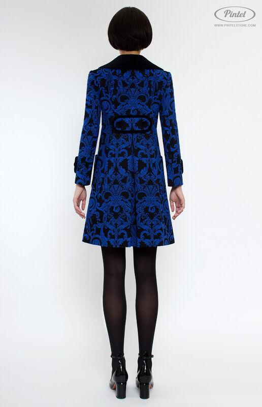 Верхняя одежда женская Pintel™ Двубортное жаккардовое мини-пальто Vania - фото 3
