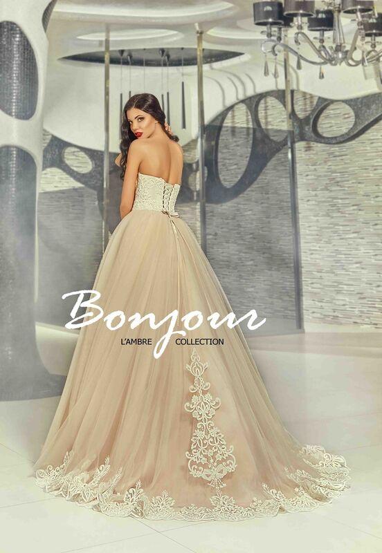 Свадебное платье напрокат Bonjour Платье свадебное «Demi» из коллекции LAMBRE 2017 - фото 3
