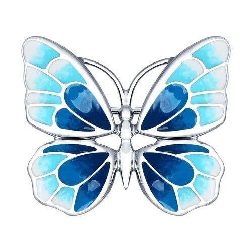 Ювелирный салон Sokolov Серебряная брошь в виде бабочки 94040126 - фото 1