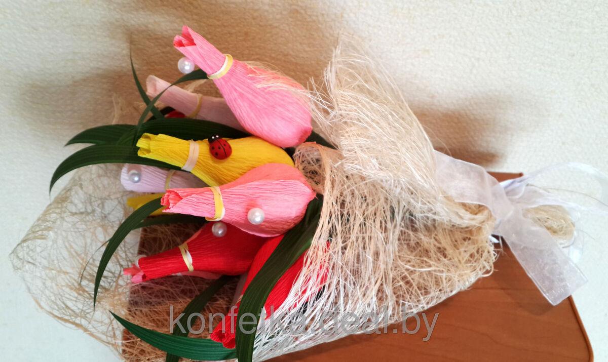 Подарок Konfetka Букет из конфет «Весенние тюльпаны» - фото 4