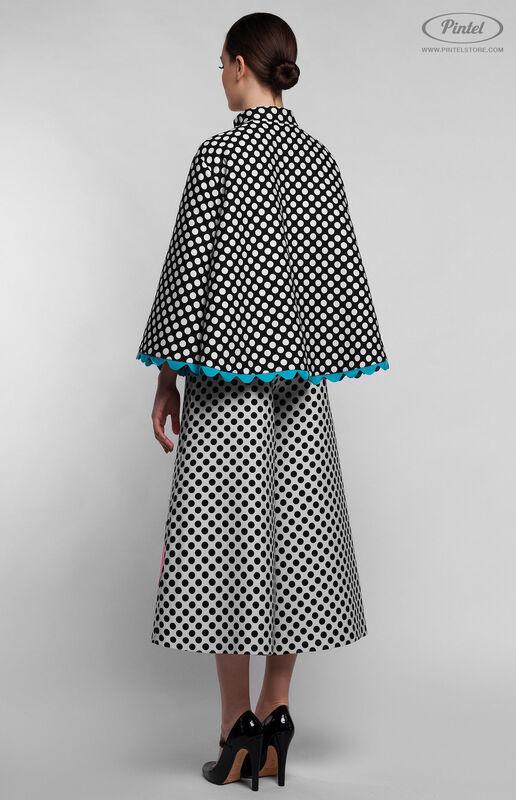 Костюм женский Pintel™ Комбинированный чёрно-белый инверсный костюм Stemaroön - фото 3