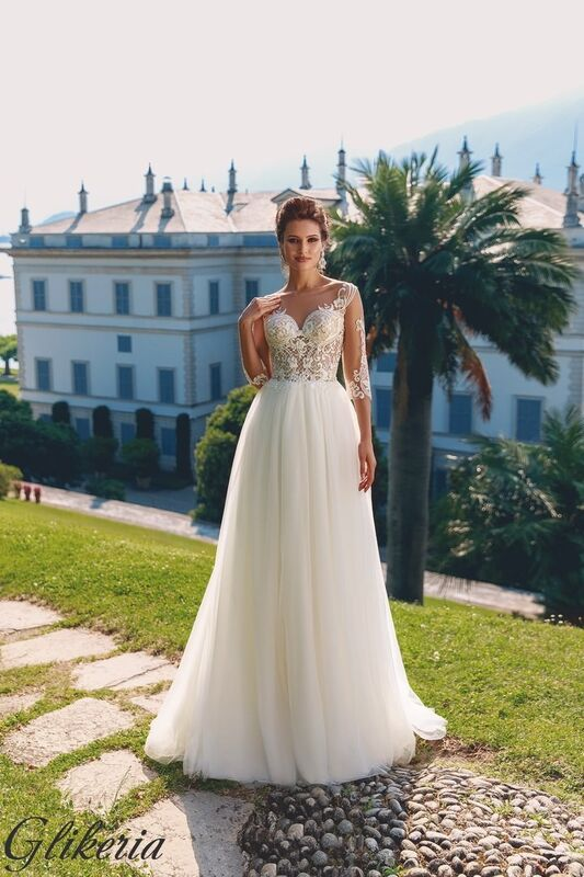 Свадебный салон Bonjour Galerie Свадебное платье Glikeria из коллекции Royal Luxury - фото 1