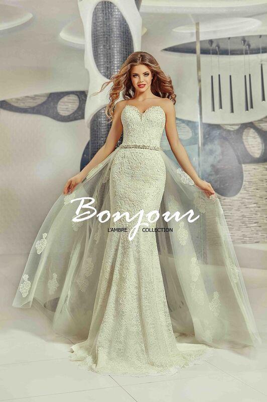Свадебное платье напрокат Bonjour Платье свадебное «Olivia» из коллекции LAMBRE 2017 - фото 1
