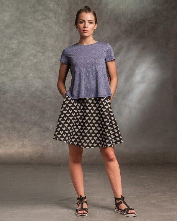 Кофта, блузка, футболка женская MISUTERI Футболка Sacai Blue SS0158 - фото 1