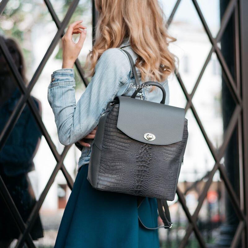 Магазин сумок Vezze Кожаный женский рюкзак C00531 - фото 1
