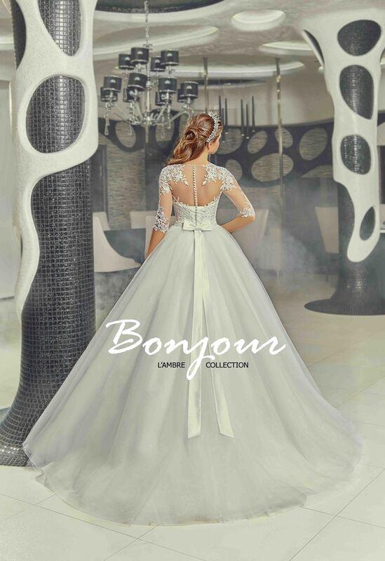 Свадебный салон Bonjour Свадебное платье «Ivet» из коллекции LAMBRE 2017 - фото 3