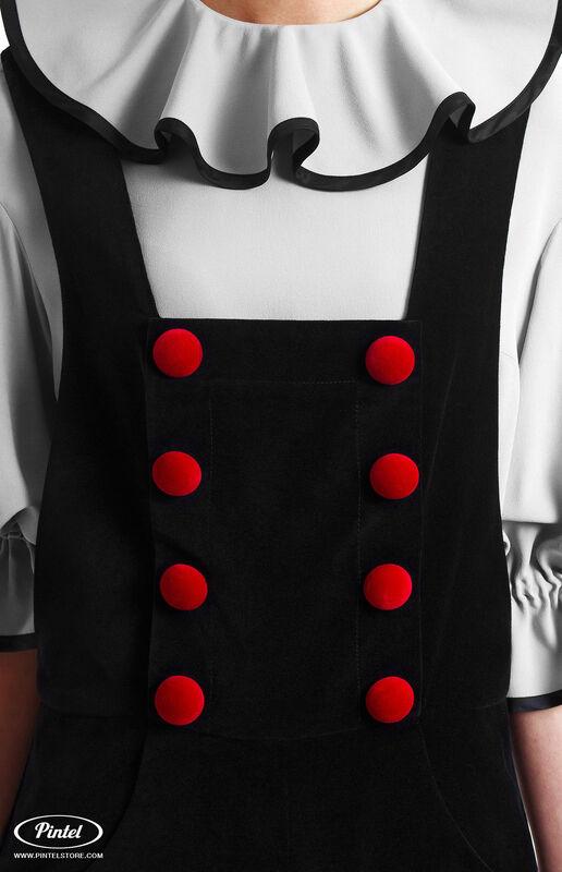 Костюм женский Pintel™ Костюм из блузы и бархатного комбинезона Refka - фото 4
