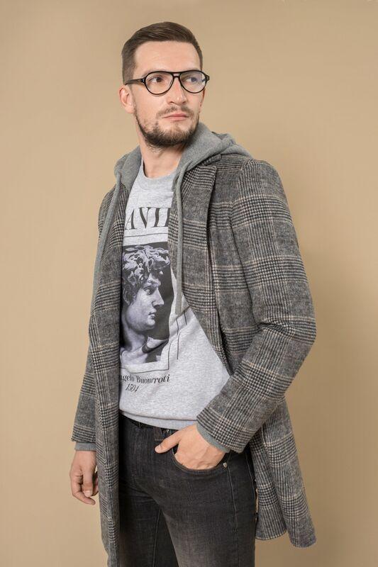 Верхняя одежда мужская Etelier Пальто мужское демисезонное 1М-8869-1 - фото 1