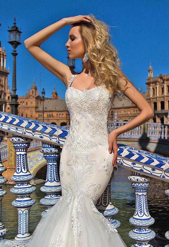 Свадебное платье напрокат Oksana Mukha Платье свадебное Esperansa - фото 1